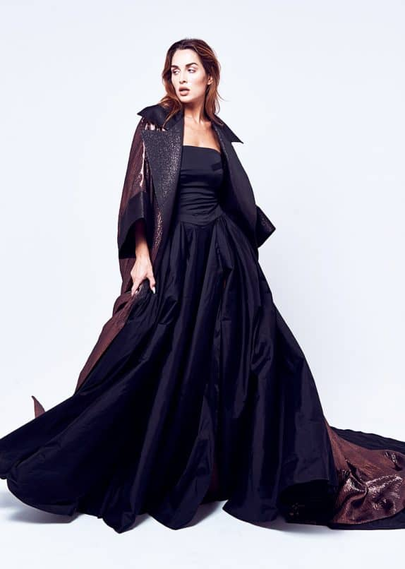 Copper Cape  (Without Black Starpless Cut Out Evening Dress)