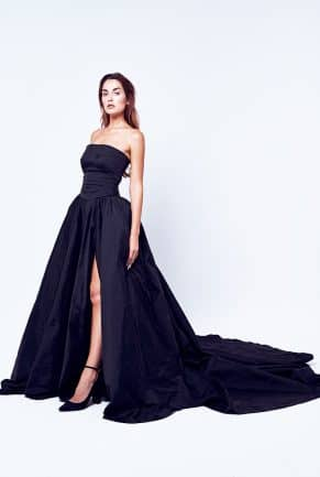 Black Starpless Cut Out Evening Dress (Without Copper Cape)
